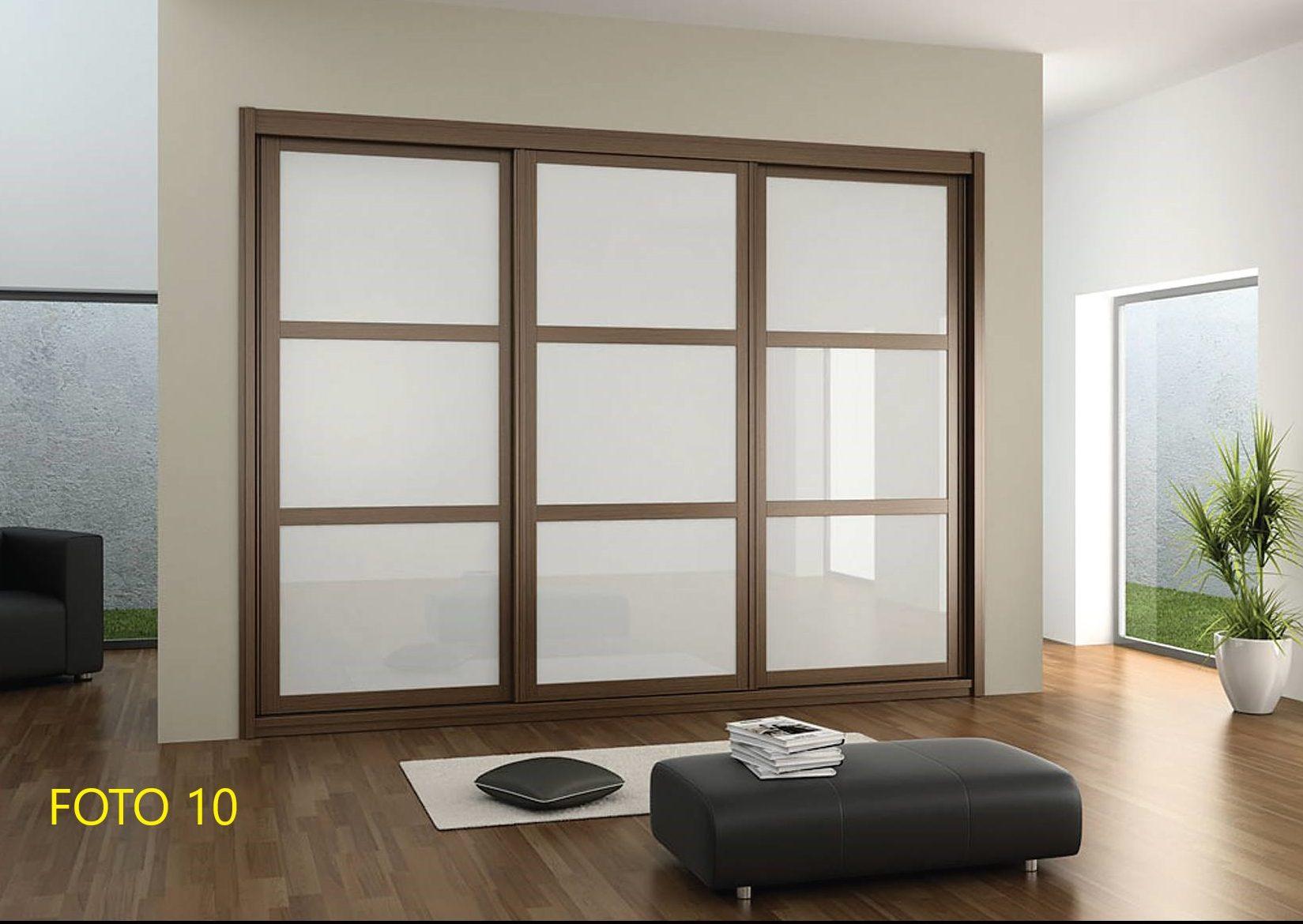 armario corredera blanco y madera